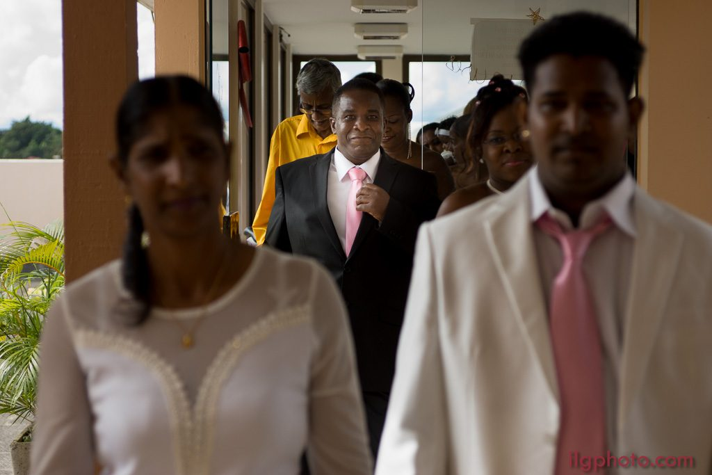 mariage mairie des Abymes, Guadeloupe, salle du haut