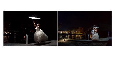 mariage: scènes de nuit à la Créole Beach, Le Gosier, Guadeloupe