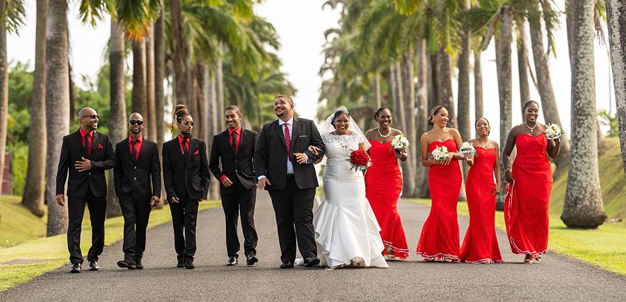 mariage Guadeloupe allée Dumanoir Capesterre cortège